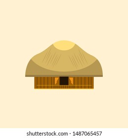 Papua Traditional House vector design