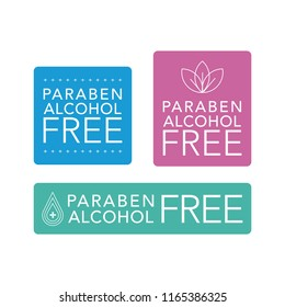 Paraben and alcohol free icon set