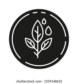 Paraben free glyph icon. Non-chemical pharmaceutics. Hypoallergenic cosmetics. Product free ingredient. Medicine for sensitive skin. Silhouette symbol. Negative space. Vector isolated illustration
