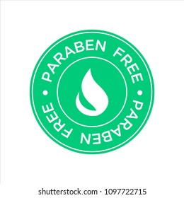 Paraben Free Icon. Isolated vector illustration.