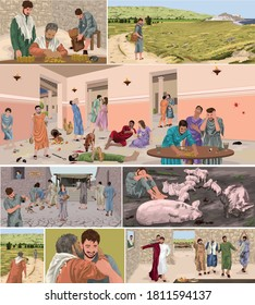 The Parable Of The Prodigal Son Storyboard (Luke 15)
