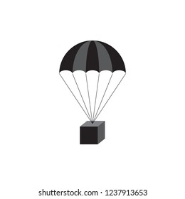 Parachute with box icon