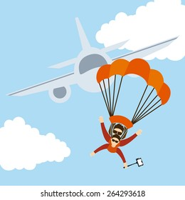 parachute fly design, vector illustration eps10 graphic