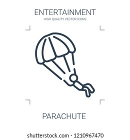 parachute icon. high quality line parachute icon on white background. from entertainment collection flat trendy vector parachute symbol. use for web and mobile
