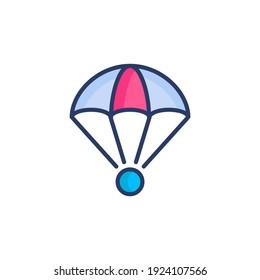 Parachute icon in vector. Logotype