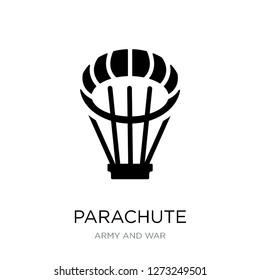 parachute icon vector on white background, parachute trendy filled icons from Army and war collection, parachute simple element illustration