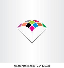 parachute logo symbol colorful icon