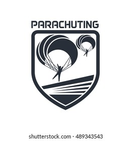 Parachute, sky diving, Aero sport logo