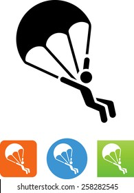 Parachute / skydiver icon