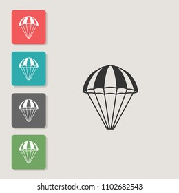 Parachute - vector icon. Symbol for web, infographics, print design and mobile UX/UI kit. Vector illustration, EPS10.