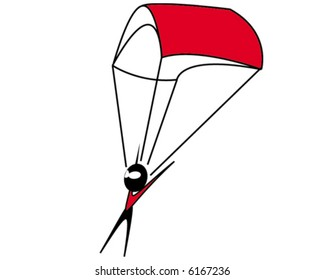 Parachuter - vector illustration