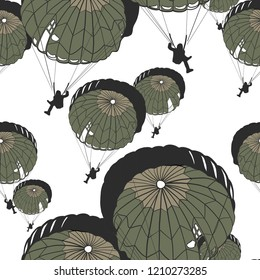 Parachutes Seamless pattern. Perfect fashion trend and textile design. Repeated vector illustration.