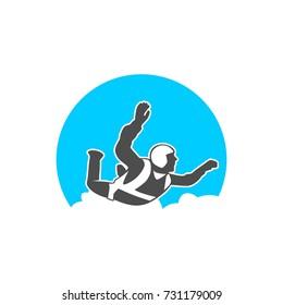 Parachuting, Hang Gliding, Paragliding, Skydiving Logo Illstration