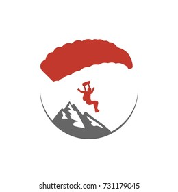 Parachuting, Hang Gliding, Paragliding, Skydiving Logo Illstration