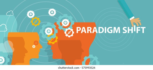 paradigm shift new concept changing rethink idea perception