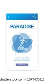 PARADISE INFOGRAPHIC ICON