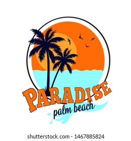 Paradise slogan vector illustration for t shirt print design.