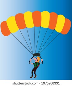a paraglider enjoys an air descend