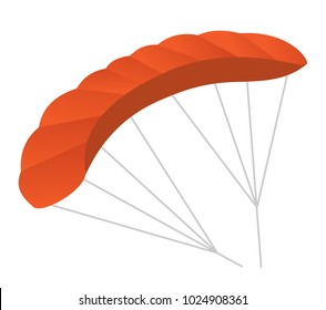 Paraglider vector cartoon illustration isolated on white background.