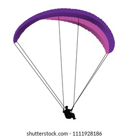 paragliding, art, vector