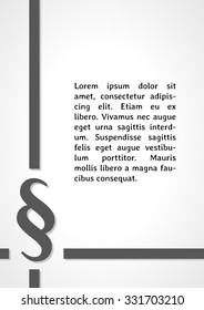 paragraph sign dark infographics on gray gradient background