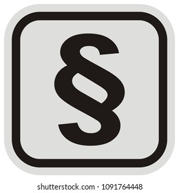 paragraph, symbol at black and gray frame,letter