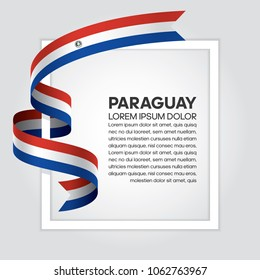 Paraguay flag background