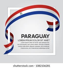 Paraguay flag background