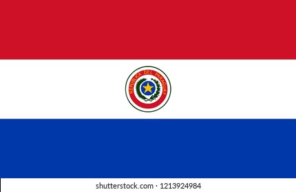 Paraguay flag vector, country flags, flags