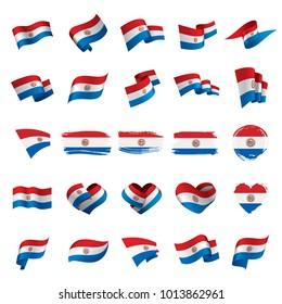 Paraguay flag, vector illustration