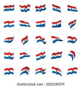 Paraguay flag, vector illustration on a white background