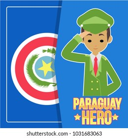 Paraguay Heroes Day Illustration