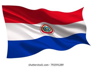 Paraguay national flag flag icon