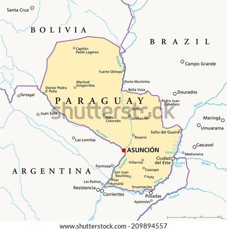 City map Asuncion Paraguay PDF