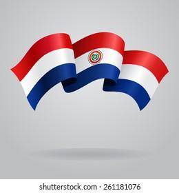 Paraguayan waving Flag. Vector illustration Eps 8.