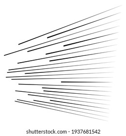 Parallel straight lines, stripes in 3d perspective