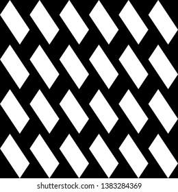 Parallelograms ornament. Seamless pattern. Geometric backdrop. Quadrangles background. Polygons wallpaper. Figures motif. Digital paper, textile print, web designing, abstract. Vector art.
