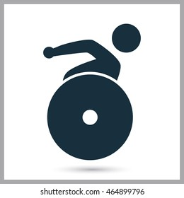 Paralympics athlete icon on the background