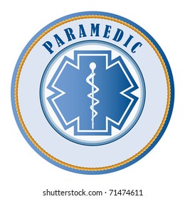 Paramedic seal or patch -add your own text