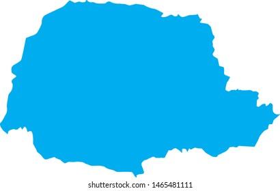 Parana state map in Brazil