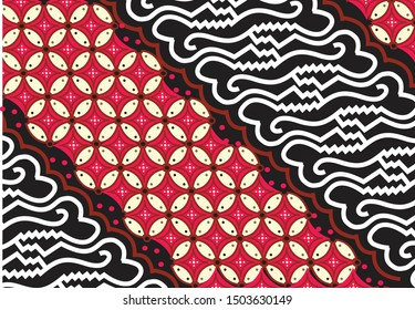Parang is one of the very famous batik motifs in Indonesia, and is often composed in a variety of shapes and color combinations