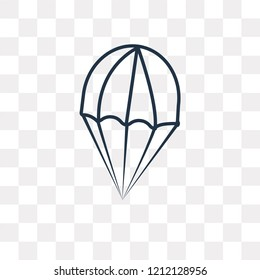 Parasailing vector outline icon isolated on transparent background, high quality linear Parasailing transparency concept can be used web and mobile