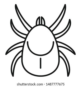 Parasite mite icon. Outline parasite mite vector icon for web design isolated on white background