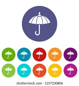 Parasol icons color set vector for any web design on white background