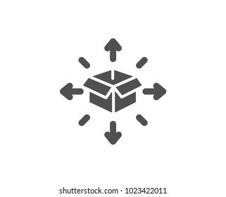 Parcel delivery simple icon. Logistics service sign. Tracking symbol. Quality design elements. Classic style. Vector