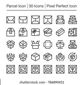 parcel post, package line icon, editable stroke, cpixel perfect icon