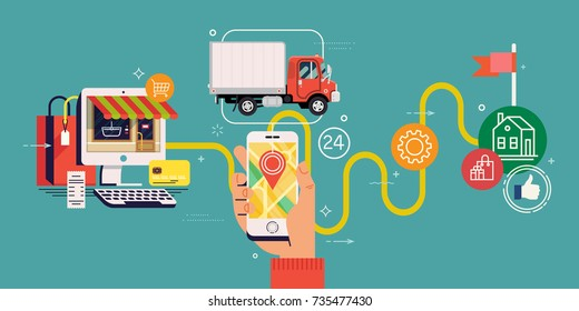 Order Tracking Images, Stock Photos & Vectors | Shutterstock