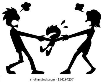 Parents fight over children