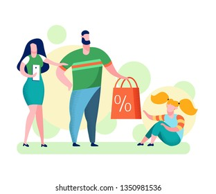 Parents Giving Present to Daughter Illustration. Mother and Father Greeting Child. Kid Getting Surprise for Birthday. Holiday and Seasonal Bargains. Surprised B-Day Girl with Gift. Teenager in Room