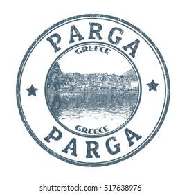 Parga grunge rubber stamp on white background, vector illustration